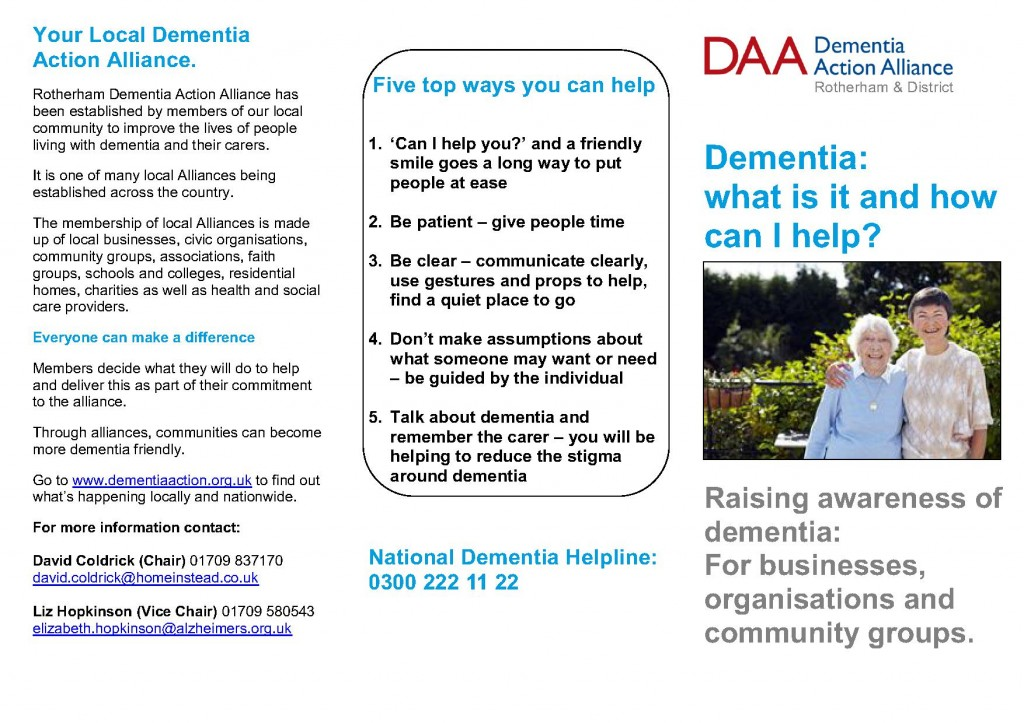 dementia awareness essay Dementech neurosciences clinic the dementech neurosciences team is welcoming you to a unique clinical practice in the heart of london's medical district we have put together a team of world-class healthcare experts including neurologists, psychiatrists, geriatricians, psychologists, psychotherapists, occupational therapists, neuropsychologists, dieticians, and speech and language therapists.